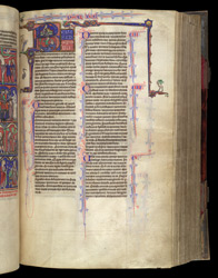 King David Harping, And Killing Goliath, In The Bible Of William Of Devon